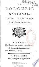 De l'orgueil national de M. Zimmermann