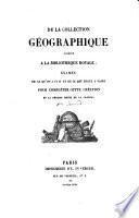 De la Collection géographique créée à la Bibliothèque Royale