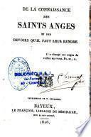 De la connaissance des saints anges et des devoirs qu'il faut leur rendre