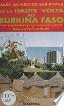 De la Haute-Volta au Burkina-Faso