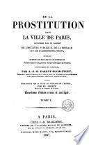 De la prostitution dans la ville de Paris, 1