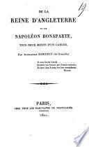 De la reine d'Angleterre et de Napoléon Bonaparte, tous deux morts d'un cancer