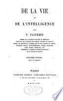 De la vie et de l'intelligence