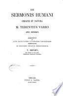 De sermonis humani origine et natura M. Terentius Varro