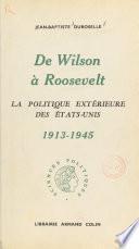 De Wilson à Roosevelt