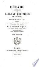 Décade historique, ou, Tableau politique de l'Europe, depuis 1786 jusqu'en 1796