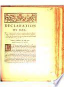 Déclaration du Roi, qui proroge pour six années, à commencer du premier Janvier 1773, la perception, au profit de l'Hôpital Général, de deux sols six deniers par jour, sur chaque carrosse de remise de la ville & fauxbourgs de Paris