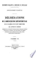 Délibérations de l'administration départementale de la Lozère et de son directoire de 1790 à 1800