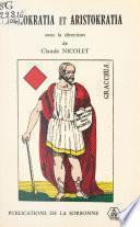 Demokratia et Aristokratia, à propos de Caius Gracchus : Mots grecs et réalités romaines
