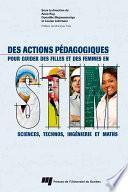 Des actions pédagogiques pour guider des filles et des femmes en STIM