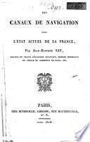 Des canaux de navigation dans l'état actuel de la France