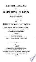 Des divinités génératrices chez les anciens et les modernes