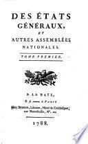 Des Etats généraux, et autres assemblées nationales