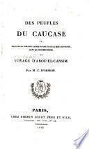 Des peuples du Caucase, ou voyage [fictif] d'Abou-el-Cassim