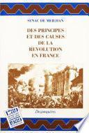 Des principes et des causes de la Révolution en France