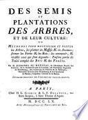 Des semis et plantations des arbres, et de leur culture