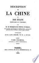 Description de la Chine et des états tributaires de l'empereur