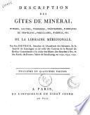 Description des Gîtes de minerai