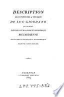 Description des peintures à fresque de Luc Giordano qui existent dans les II. et RR. Galerie et Bibliothèque Riccardienne