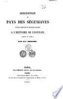 Description du pays des Ségusiaves