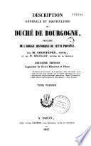 Description générale et particulière du Duché de Bourgogne