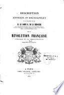 Description historique et bibliographique de la collection de feu m. le comte H. de La Bédoyère...