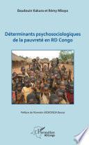 Déterminants psychosociologiques de la pauvreté en RD Congo