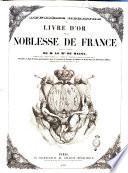 Deuxième registre du livre d'or de la noblesse de France