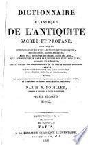Dictionnaire classique de l'antiquité sacrée et profane