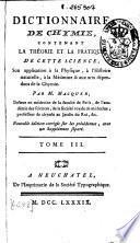 Dictionnaire de chymie