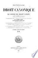 Dictionnaire de droit canonique