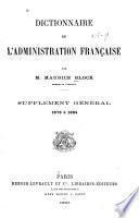 Dictionnaire de l'administration française