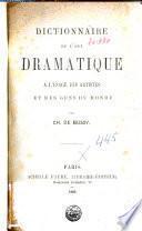 Dictionnaire de l'art dramatique