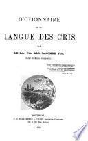 Dictionnaire de la langue des Cris
