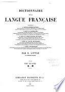 Dictionnaire de la langue française contenant