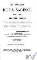 Dictionnaire de la sagesse populaire