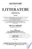 Dictionnaire de littérature chrétienne