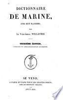 Dictionnaire de marine avec huit planches par le vice-amiral Willaumez