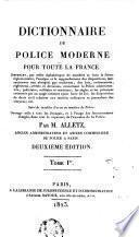 Dictionnaire de police moderne, pour toute la France