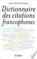Dictionnaire des citations francophones