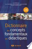 Dictionnaire des concepts fondamentaux aux didactiques