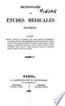 Dictionnaire des études médicales pratiques