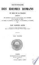Dictionnaire des idiomes romanes du midi de la France