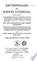 Dictionnaire des sciences naturelles