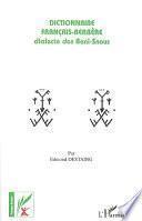 Dictionnaire français-berbère, dialecte des Beni-Snous