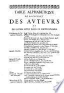 Dictionnaire françois