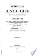 Dictionnaire historique, géographique et& statistique du canton de Vaud ...