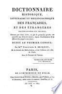 Dictionnaire historique, littéraire et bibliographique des Françaises et des étrangères naturalisées en France