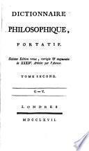 Dictionnaire philosophique, portatif