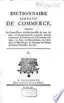 Dictionnaire portatif de commerce
